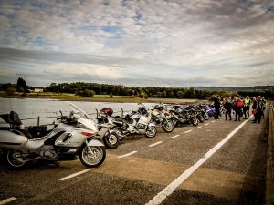 Motorcycle group ride UK Chew Valley lake