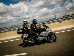 BMW motorcycle pillion road Europe