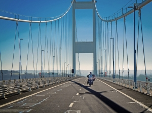 Bikes on M48 Severn Bridge