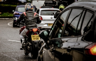 Motorcycle road traffic congestion