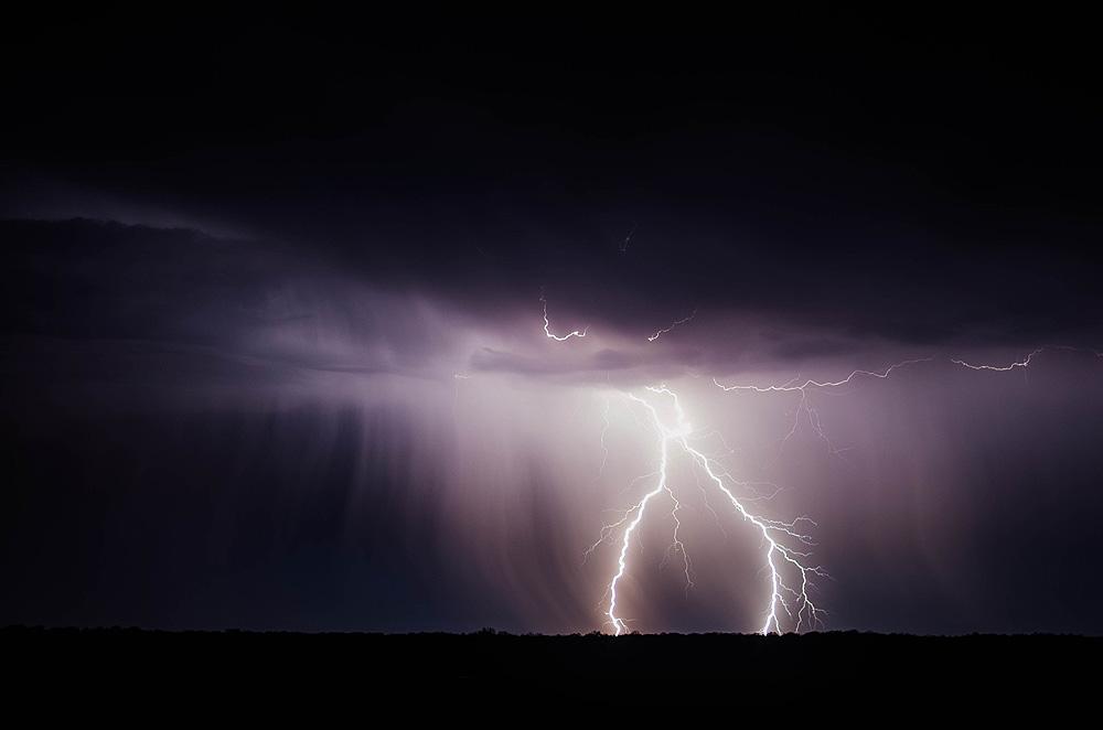 Motorcyclist lightning danger